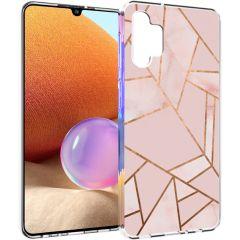 iMoshion Coque Design Galaxy A32 (4G) - Cuive graphique - Rose /Dorée