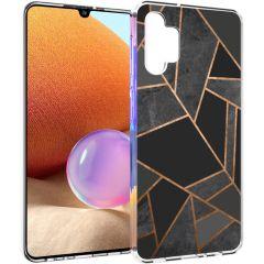 iMoshion Coque Design Galaxy A32 (4G) - Cuive graphique - Noir /Dorée