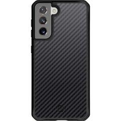Itskins Coque Hybrid Carbon Samsung Galaxy S21 - Noir