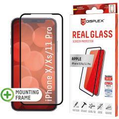 Displex Protection d'écran en verre durci Real Glass Full Cover iPhone 11 Pro / Xs / X - Noir