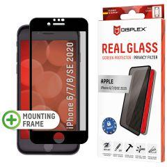 Displex Protection d'écran en verre durci Privacy iPhone SE (2020) / 8 / 7 / 6(s) - Noir