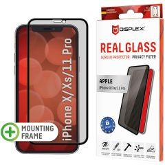 Displex Protection d'écran en verre durci Privacy iPhone 11 Pro / Xs / X - Noir