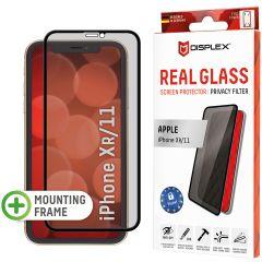 Displex Protection d'écran en verre durci Privacy iPhone 11 / Xr - Noir