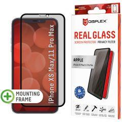 Displex Protection d'écran en verre durci Privacy iPhone 11 Pro Max / Xs Max - Noir