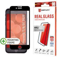 Displex Protection d'écran en verre durci Real Glass Full Cover iPhone SE (2020) / 8 / 7 / 6(s) - Noir