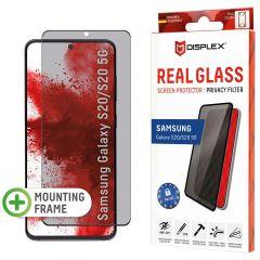 Displex Protection d'écran en verre durci Privacy Samsung Galaxy S20 - Noir