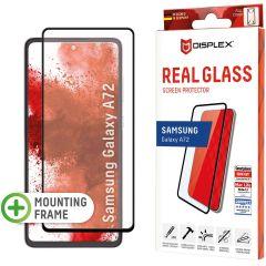 Displex Protection d'écran en verre durci Real Glass Full Cover Samsung Galaxy A72 - Noir