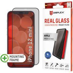 Displex Protection d'écran en verre durci Privacy iPhone 12 Mini - Noir