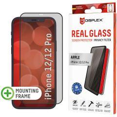 Displex Protection d'écran en verre durci Privacy iPhone 12 (Pro) - Noir