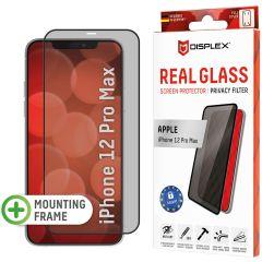 Displex Protection d'écran en verre durci Privacy iPhone 12 Pro Max - Noir