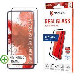 Displex Protection d'écran en verre durci Real Glass Full Cover Fingerprint Sensor Samsung Galaxy S21 - Noir