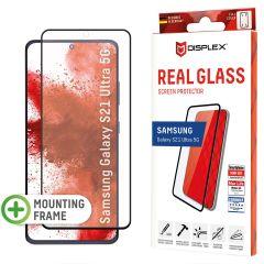 Displex Protection d'écran en verre durci Real Glass Fingerprint Sensor Samsung Galaxy S21 Ultra - Noir