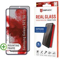 Displex Protection d'écran en verre durci Privacy Samsung Galaxy S21 - Noir