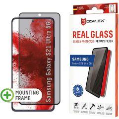 Displex Protection d'écran en verre durci Privacy Samsung Galaxy S21 Ultra - Noir