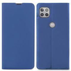 iMoshion Étui de téléphone Slim Folio Motorola Moto G 5G - Bleu foncé