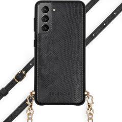 Selencia Coque Aina Serpent avec corde Galaxy S21 - Noir