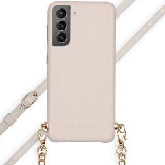 Selencia Coque Aina Serpent avec corde Galaxy S21 - Blanc