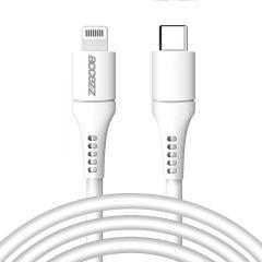 Accezz Câble USB-C vers Lightning certifié IMF - 2 mètres - Blanc