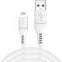 iMoshion MFI Braided Lightning vers câble USB - 3 mètres - Blanc