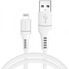 iMoshion MFI Braided Lightning vers câble USB - 1,5 mètres - Blanc