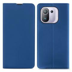 iMoshion Étui de téléphone Slim Folio Xiaomi Mi 11 Pro - Bleu foncé