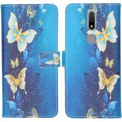 iMoshion Coque silicone design Nokia 2.4 - Blue Butterfly