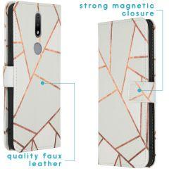 iMoshion Coque silicone design Nokia 2.4 - White Graphic
