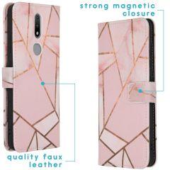 iMoshion Coque silicone design Nokia 2.4 - Pink Graphic