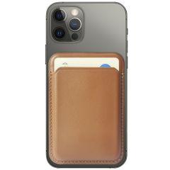 Accezz Porte-cartes portefeuille en cuir avec MagSafe - Brun