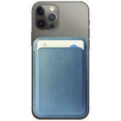 Accezz Porte-cartes portefeuille en cuir avec MagSafe - Bleu foncé