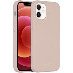 Accezz Coque Liquid Silicone avec MagSafe iPhone 12 Mini - Rose