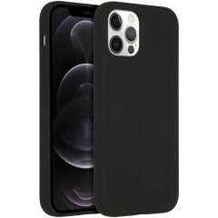Accezz Coque Liquid Silicone avec MagSafe iPhone 12 (Pro) - Noir