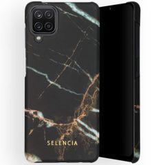 Selencia Coque Maya Fashion Samsung Galaxy A12 - Marble Black
