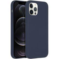 Accezz Coque Liquid Silicone avec MagSafe iPhone 12 (Pro) - Bleu