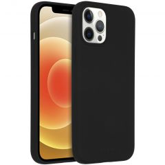 Accezz Coque Liquid Silicone avec MagSafe iPhone 12 Pro Max - Noir