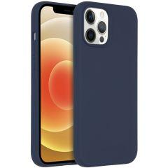 Accezz Coque Liquid Silicone avec MagSafe iPhone 12 Pro Max - Bleu