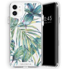 Selencia Coque très protectrice Zarya Fashion iPhone 11 - Green Jungle Leaves