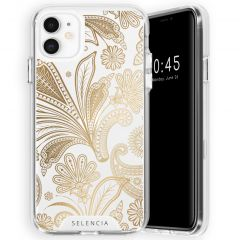 Selencia Coque très protectrice Zarya Fashion iPhone 11 - Paisley Gold