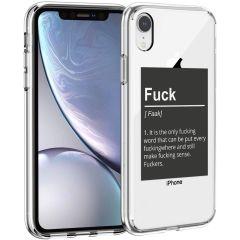 iMoshion Coque Design iPhone Xr - Quote - Noir