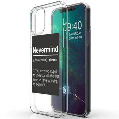 iMoshion Coque Design iPhone 12 (Pro) - Quote - Noir