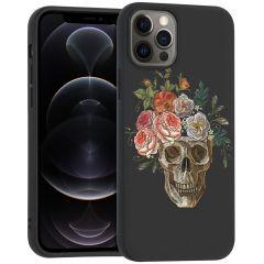 iMoshion Coque Design iPhone 12 (Pro) - Skull - Multicolor