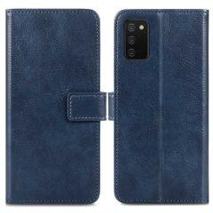 iMoshion Étui de téléphone portefeuille Luxe Samsung Galaxy A03s - Bleu foncé