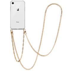 iMoshion Coque avec cordon + bracelet - Chaîne iPhone Xr - Dorée