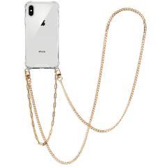 iMoshion Coque avec cordon + bracelet - Chaîne iPhone Xs / X - Dorée