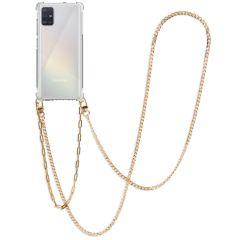 iMoshion Coque avec cordon + bracelet - Chaîne Galaxy A51 - Dorée