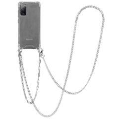 iMoshion Coque avec cordon + bracelet - Chaîne Galaxy S20 FE -Argent