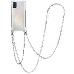 iMoshion Coque avec cordon + bracelet - Chaîne Galaxy A51 - Argent