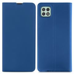 iMoshion Étui de téléphone Slim Folio Samsung Galaxy A22 (5G) - Bleu