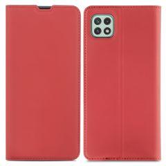 iMoshion Étui de téléphone Slim Folio Samsung Galaxy A22 (5G) - Rouge