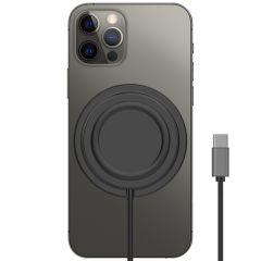 Accezz Chargeur sans fil Anti-dérapant USB-C vers MagSafe - Noir